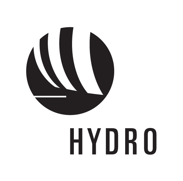 hydro logo black and white